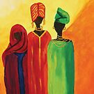 Original Artwork Acrylic Painting African Ladies by CrazyCraftLady