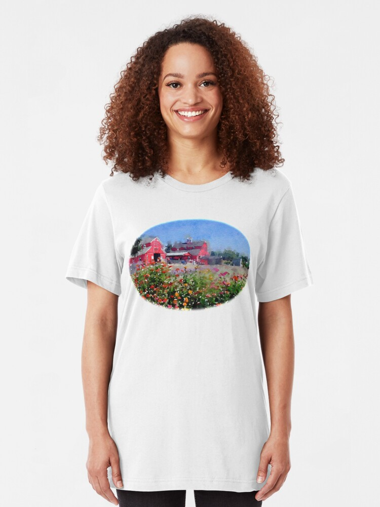 Alternate view of On the farm... Slim Fit T-Shirt