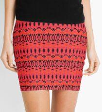 Geometric red Mini Skirt
