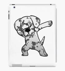 Funny White Great Dane Dabbing iPad Case/Skin