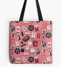Tarot Iconography on Pink Tote Bag