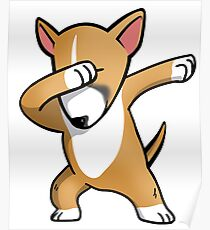 Funny Fawn English Bull Terrier Dabbing Poster