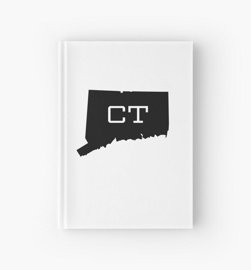 Connecticut State Map CT Abbreviation By Chocodole