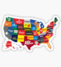 The Corporate States of America Sticker