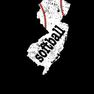 New Jersey Womens Fastpitch Softball College Shirts by shoppzee