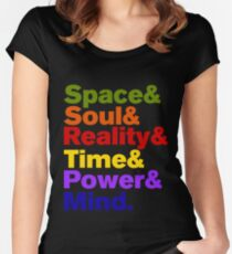 Infinity Stones Colored Women's Fitted Scoop T-Shirt