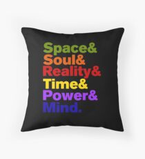 Infinity Stones Colored Throw Pillow