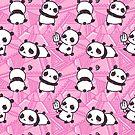 Niedliches Pandas-Muster von freeminds