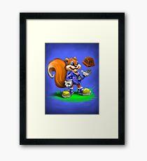 A Squirrel's Comeback Framed Print