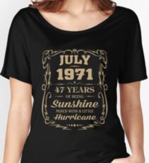 July 1971 Sunshine mixed Hurricane Women's Relaxed Fit T-Shirt