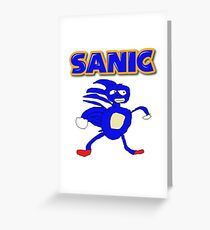 Sega Sanic Hedgehog  Greeting Card