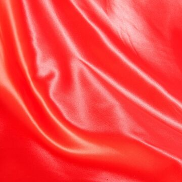 Photo satin fabric red coloured by stuwdamdorp