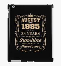 August 1985 Sunshine mixed Hurricane iPad Case/Skin
