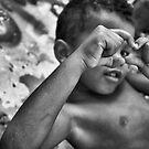 Brazilian boy sharing the love, 2009 by Tash  Menon