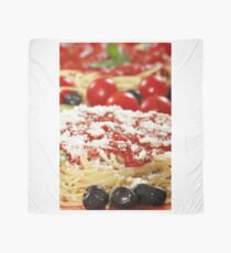 pizza with olives and cheese closeup Scarf