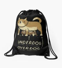 underdog overdog Drawstring Bag