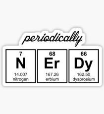 Periodically Nerdy Element Symbols Sticker