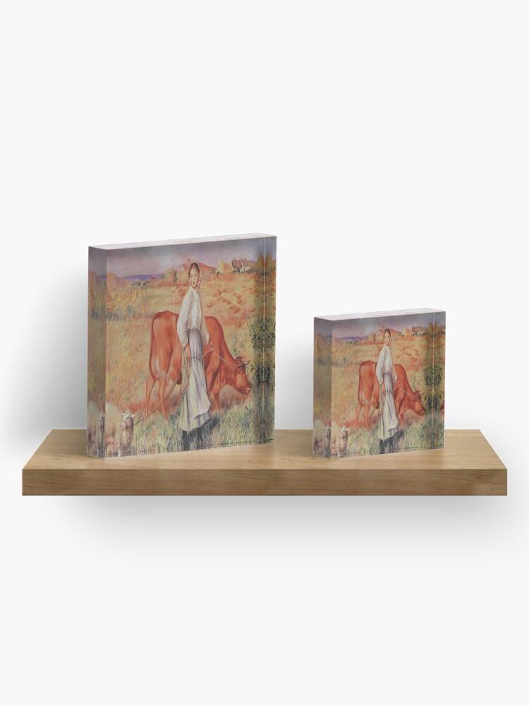 Alternate view of Shepherdess-Pierre-Auguste Renoir Acrylic Block