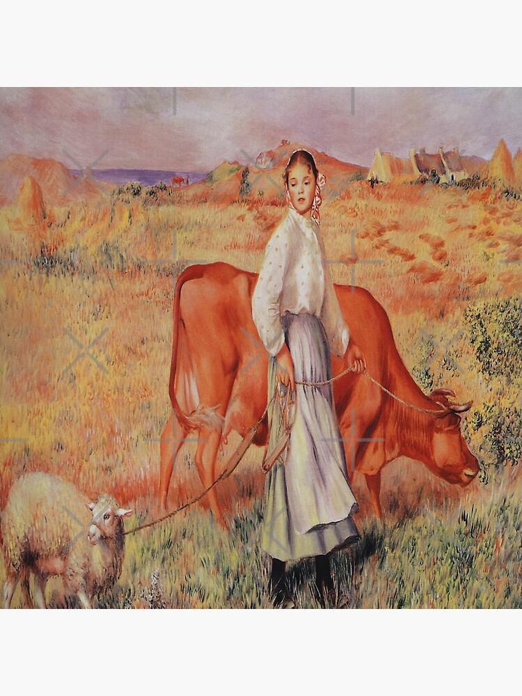 Shepherdess-Pierre-Auguste Renoir by LexBauer