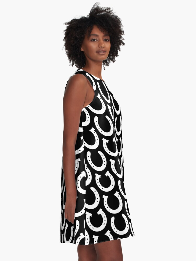 Alternate view of White Horseshoes  A-Line Dress