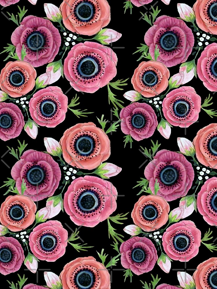 Anemone Floral Watercolor by MagentaRose