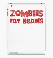 Zombies Eat Brains You Are Safe iPad Case/Skin