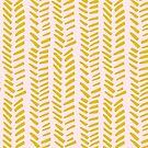 Mustard on Pink hand drawn herringbone by Pip Pottage