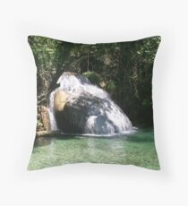 Huatulco Paradise Hidden Waterfall  Throw Pillow