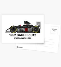 SAUBER C12 1992 Cartes postales