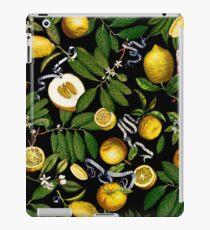Zitronenbaum - Schwarz iPad-Hülle & Klebefolie