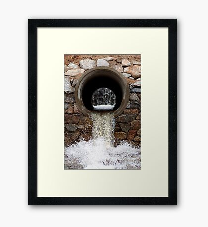 spring runoff Framed Print