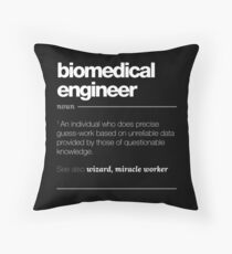 Biomedical Engineer Definition Gift - Funny Job Quote Tee Throw Pillow
