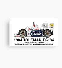 TOLEMAN TG184 1984 Impression sur toile
