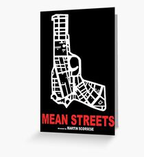 Mean Streets Scorsese Greeting Card