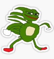Sanic Pepe Sticker