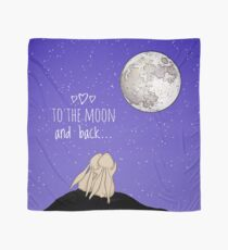 To The Moon And Back... (with text) Scarf