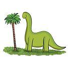 happy brontosaurus dinosaur cartoon by FrogFactory