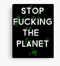 Ecology Activism Canvas Print