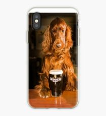 Irish seter with pint of stout iPhone Case