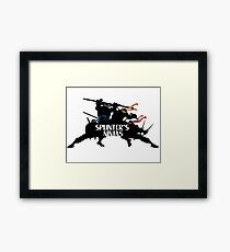 Splinter's Ninjas. Framed Print