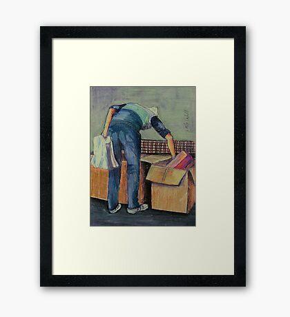 Moving House Framed Print