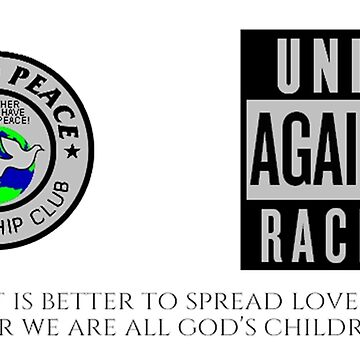 World Peace Friendship Club Unite Against Racism Coffee Mug 17902 by cisco119