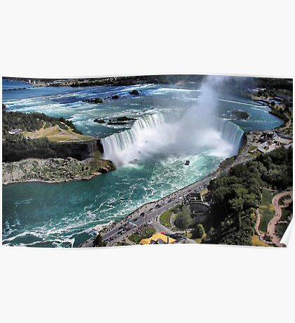 Niagara Fall from the air Poster