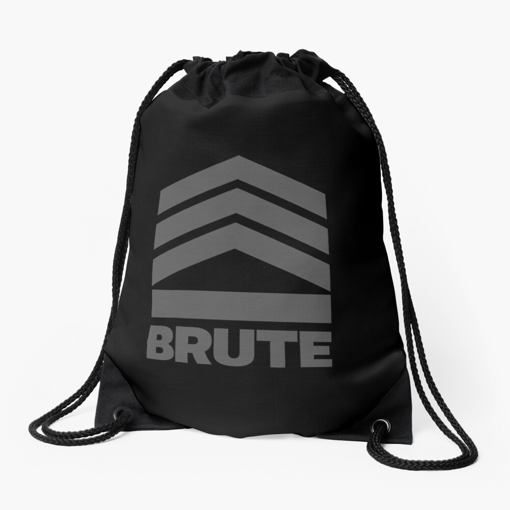 Brute Logo Drawstring Bag Front