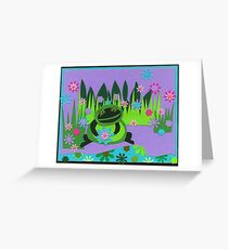 Frannie the Frog Greeting Card
