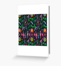 Design- A combination of fine artistry with a dark background. Greeting Card