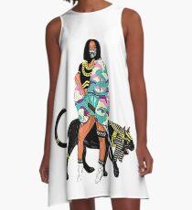 Cardi B A-Linien Kleid