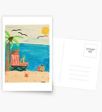 Afternoon at the Beach Postcards