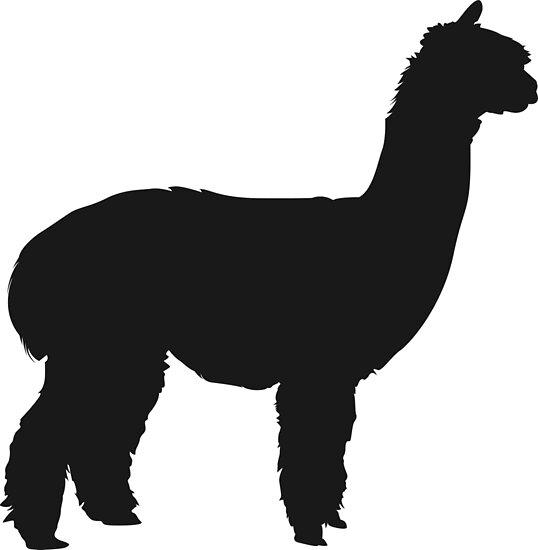 """alpaca silhouette"" posterspinelemon  redbubble"