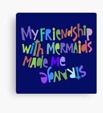Friendship with Mermaids. Canvas Print